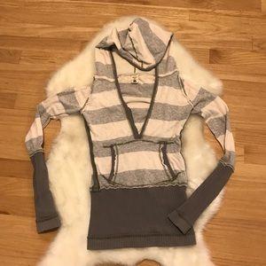 Free People Sweater w| Hood